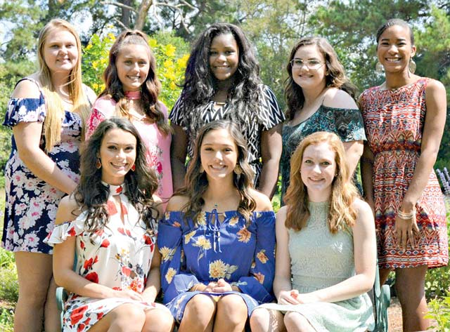 Eight Grapeland High School senior will compete in this year's Peanut Queen Coronation to be held Oct. 14 at 7 p.m. in the Lorena Shultz Auditorium. Bottom row left to right: Callie Richburg, Madilyn Conner and Hannah Turner. Back row, left to right: Victoria Lane, Alysha Williams, Aliyah Simms, Jennie Lovell and Keanna McNight. (Contributed Photo)